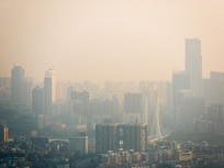 拂晓的惠州城市风光