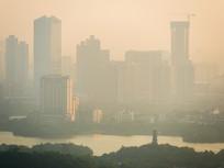 拂晓的惠州江北高楼景观