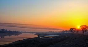 辽河两岸日出风景