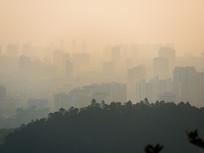 远眺惠州朦胧城市风景