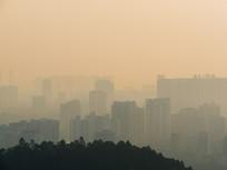 远眺惠州城市建筑风光