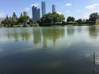 城市湖泊景观