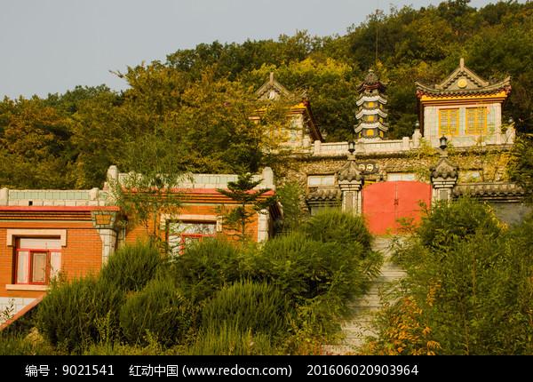圣水寺建筑风景图片