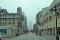 天津步行街的清晨