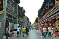 天津的古玩街景色