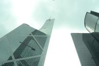 仰视香港中银大厦