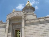 梵宫精美的外墙装饰