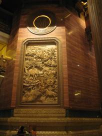 梵宫石壁上的浮雕