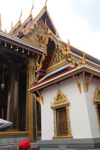 漂亮的寺庙特写