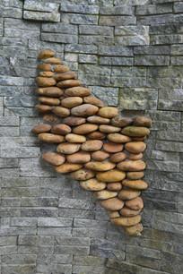 墙壁上石头排列而成的四边形