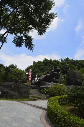 云台花园奇石园景观