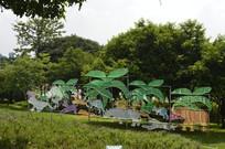 云台花园十二生肖灯饰雕塑