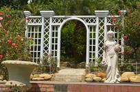云台花园西式门雕塑绿化景观