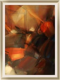 抽复古抽象油画