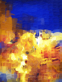 抽象油画之气势