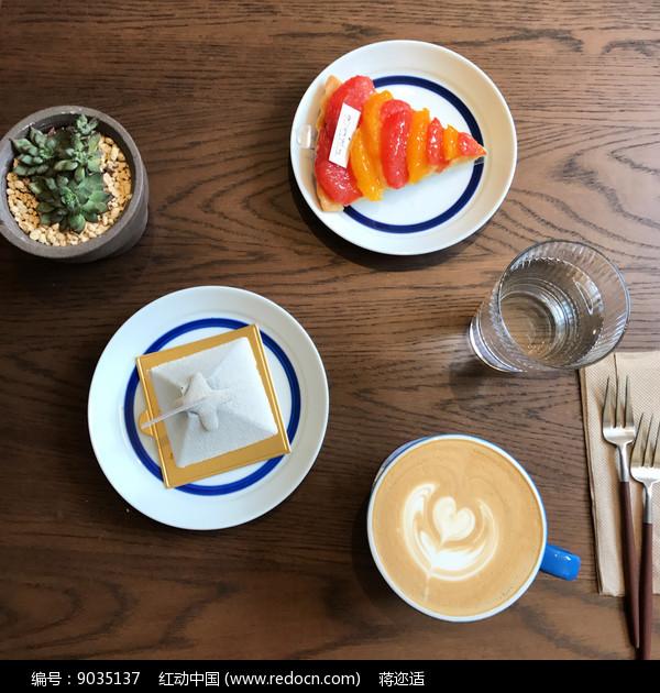 高颜值蛋糕下午茶图片