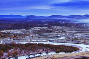 额尔古纳湿地河流风景