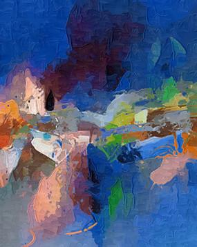简约现代抽象油画