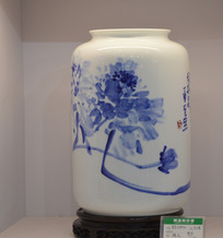 青花大直筒瓷瓶