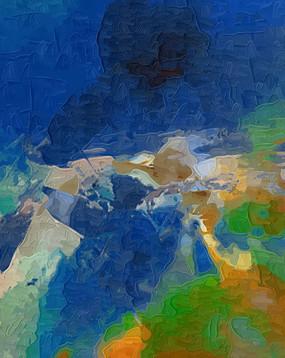 玄关壁画手绘抽象油画