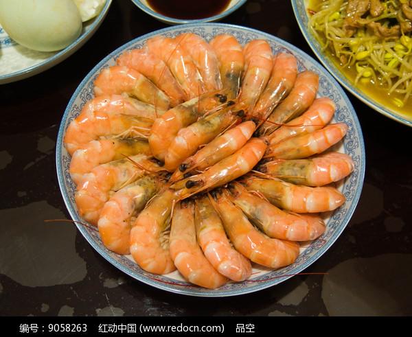 一盘清蒸虾子高清图片下载 红动网