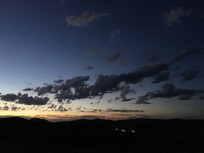 傍晚的天空云彩
