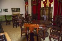 张帅府大青楼桌椅屏风装饰墙