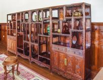 张作霖办公室木制镂空古董柜