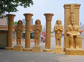 埃及风光人物雕塑