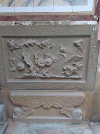 古厝外墙石雕