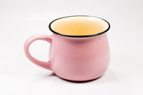 一只粉红色茶杯