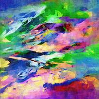 漂亮的彩色抽象油画