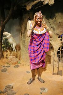 非洲原著民女性蜡像