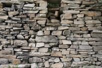 农村石块墙背景