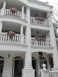婚礼别墅阳台