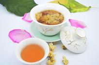 养生茶饮背景素材