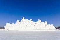 巨龙腾飞雪雕大型雪雕艺术全景