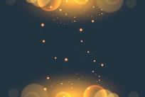 大气粒子科技背景图