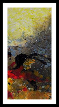 抽象油画背景墙玄关画