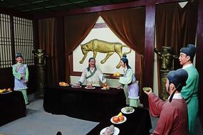 历史场景人物雕像《依宋联辽》