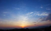 田园风光日出