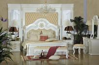 卧室大床床头柜衣柜