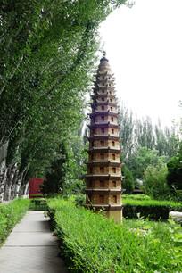 西夏王陵遗址佛塔