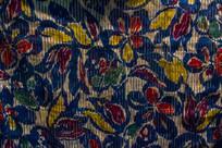 蓝色旗袍古典花纹