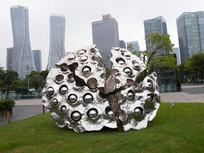 城市雕塑莲蓬