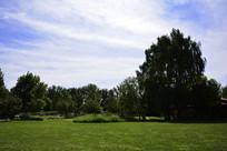 蓝天白云风景图