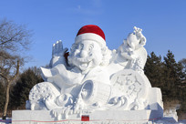 卡通人物雪雕大型雪雕