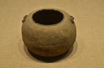 春秋战国麻布纹陶罐
