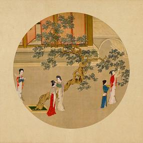 中式装饰画汉宫春晓图