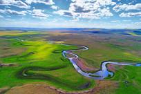 莫日格勒河牧场风景